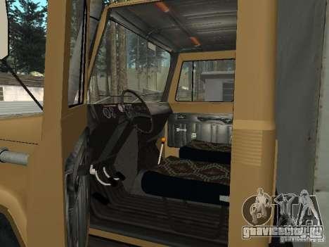 ГАЗ 3309 CR v2 для GTA San Andreas вид сзади