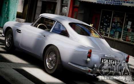 Aston Martin DB5 1964 для GTA 4 вид сзади слева