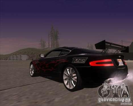 Aston Martin DB9 tunable для GTA San Andreas вид сбоку