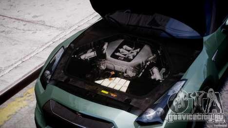 Nissan GT-R R35 2010 v1.3 для GTA 4 вид изнутри