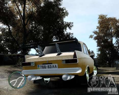 Moсквич 412 Street Racer [Alpha] для GTA 4 вид справа
