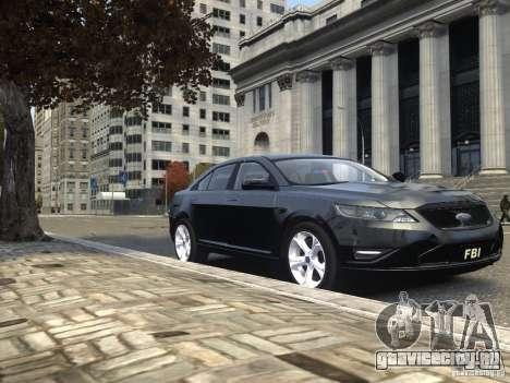 Ford Taurus FBI 2012 для GTA 4 вид сбоку