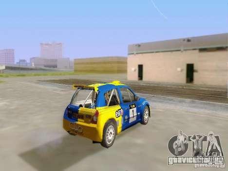 Renault Clio Super 1600 для GTA San Andreas вид слева
