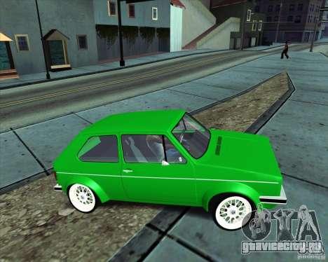 Volkswagen Golf MK 1 для GTA San Andreas вид справа