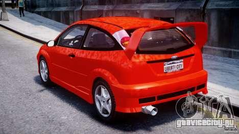 Ford Focus SVT WRC Street для GTA 4 вид сзади слева