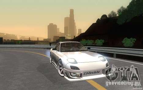 Mazda Rx7 C-West для GTA San Andreas вид изнутри