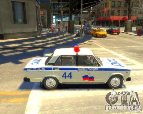 ВАЗ-2105 милиция для GTA 4 вид слева