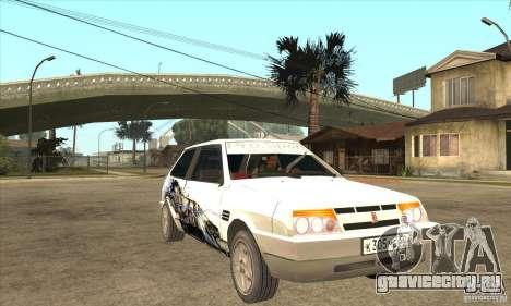 ВАЗ 2108 Tuned для GTA San Andreas вид сзади