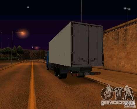 КамАЗ 65117 для GTA San Andreas вид снизу
