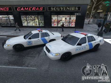 Ford Crown Victoria Homeland Security для GTA 4 вид сзади слева