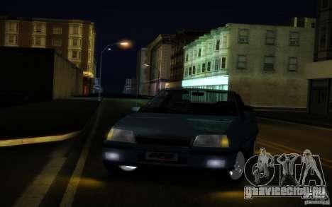 Chevrolet Kadett GSI Cabrio для GTA San Andreas вид изнутри