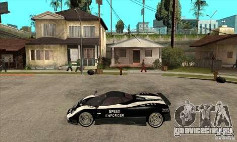 Pagani Zonda F Speed Enforcer BETA для GTA San Andreas вид сзади слева