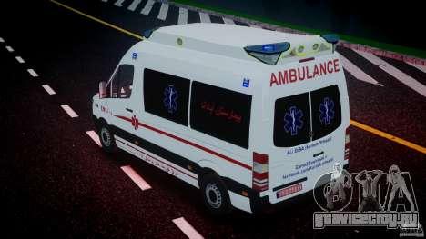 Mercedes-Benz Sprinter Iranian Ambulance [ELS] для GTA 4 салон