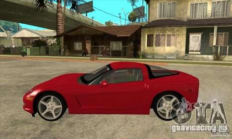 Chevrolet Corvette C6 Z51 - Stock для GTA San Andreas вид слева