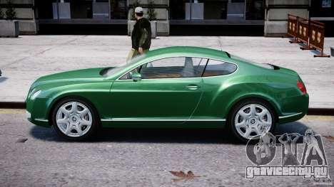 Bentley Continental GT для GTA 4 вид сзади слева