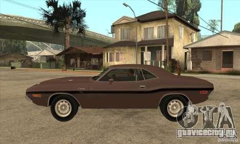 Dodge Challenger R/T Hemi 426 для GTA San Andreas вид слева