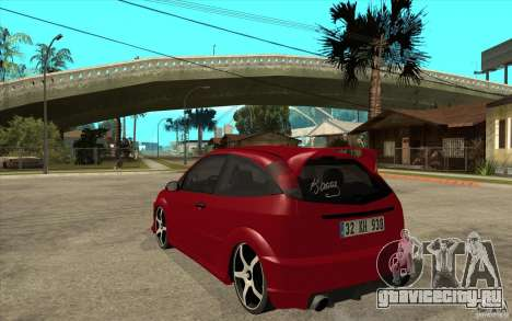 Ford Focus Coupe Tuning для GTA San Andreas вид сзади слева