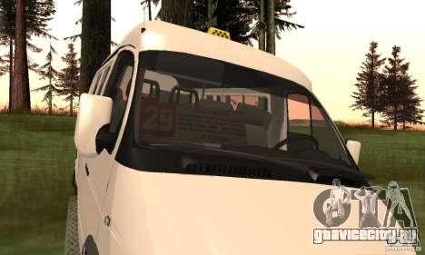 ГАЗель 32213 Новосибирская Маршрутка для GTA San Andreas вид справа