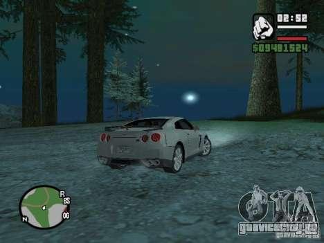 Nissan Skyline GTR для GTA San Andreas вид справа