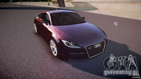 Audi TT RS v3.0 2010 для GTA 4 вид изнутри