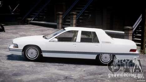 Buick Roadmaster Sedan 1996 v1.0 для GTA 4 вид сзади слева