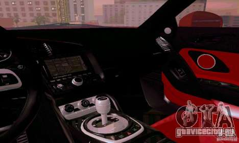 Audi R8 V10 Spyder 5.2. FSI для GTA San Andreas вид сверху