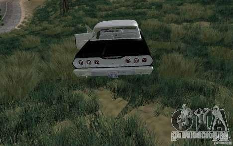 Chevrolet Impala 4 Door Hardtop 1963 для GTA San Andreas вид справа
