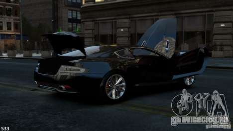 Aston Martin Virage 2012 v1.0 для GTA 4 вид сзади