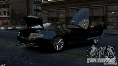 Aston Martin Virage 2012 v1.0 для GTA 4 вид сзади
