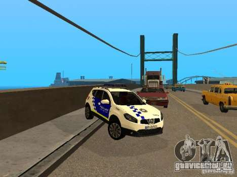 Nissan Qashqai Espaqna Police для GTA San Andreas