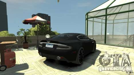 Aston Martin DBS v1.1 С тонировкой для GTA 4 вид сзади слева