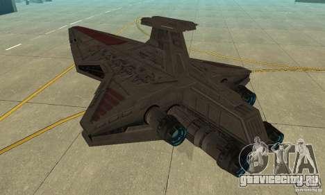 Republic Attack Cruiser Venator class v3 для GTA San Andreas вид сзади слева