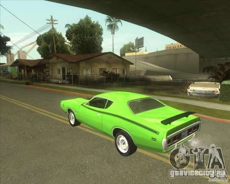 1971 Dodge Charger Super Bee для GTA San Andreas вид слева