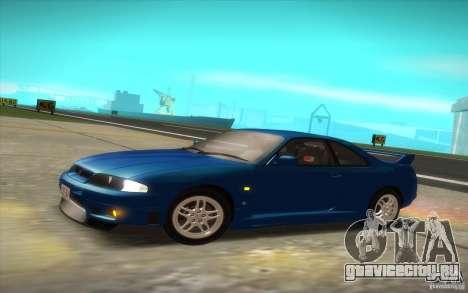 Nissan Skyline R33 GT-R V-Spec для GTA San Andreas вид сзади слева