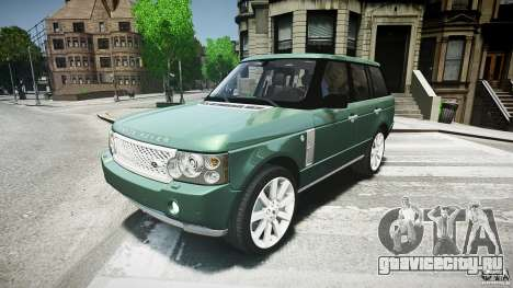 Range Rover Supercharged для GTA 4 вид слева