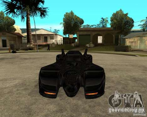 Batmobile для GTA San Andreas вид сзади