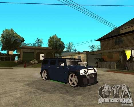 AMG H2 HUMMER Jvt HARD exclusive TUNING для GTA San Andreas вид справа