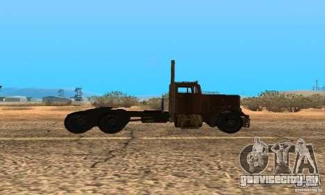 Duel Peterbilt для GTA San Andreas вид сзади слева