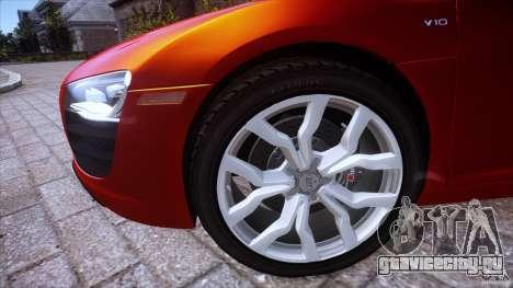 Audi R8 V10 для GTA 4 вид сзади слева