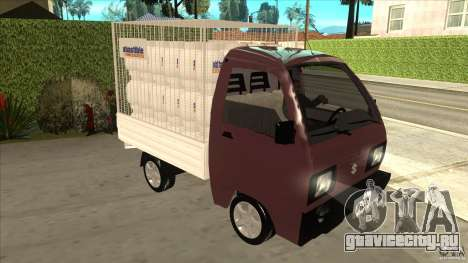 Suzuki Carry 4wd 1985 Abastible для GTA San Andreas вид сзади