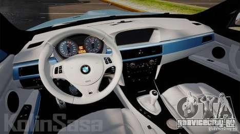 BMW E92 M3 Threep Edition для GTA 4 вид сзади