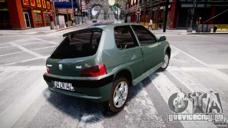 Peugeot 106 Quicksilver для GTA 4 вид справа