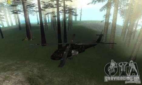 UH-60M Black Hawk для GTA San Andreas вид справа