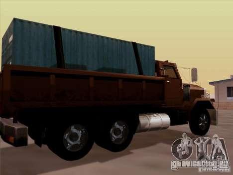New Flatbed для GTA San Andreas вид справа