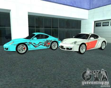 Porsche Cayman S для GTA San Andreas вид слева
