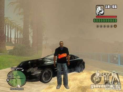 Футболка THE MIZ для GTA San Andreas пятый скриншот