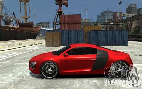 Audi R8 2008 для GTA 4 вид слева
