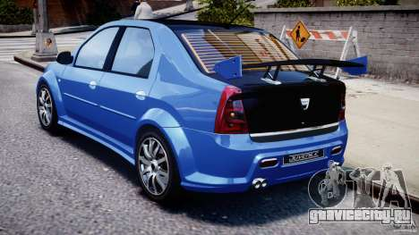 Dacia Logan 2008 [Tuned] для GTA 4 вид справа