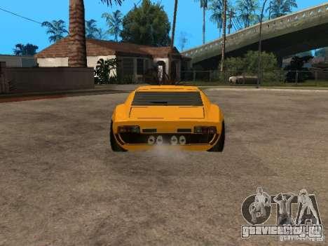 Lamborghini Miura для GTA San Andreas вид сзади слева