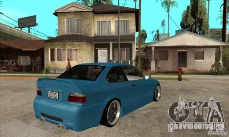 BMW M3 HAMMAN для GTA San Andreas вид справа